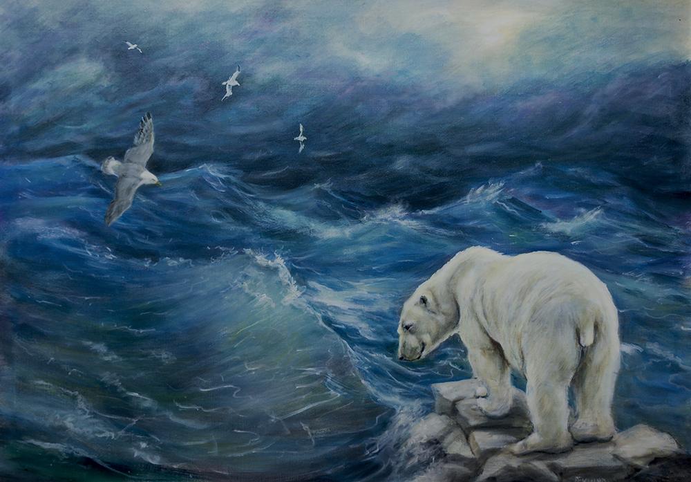 Isbjörn - hotad miljö 2014